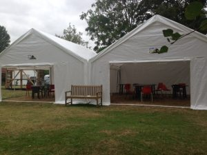 Marquees erected