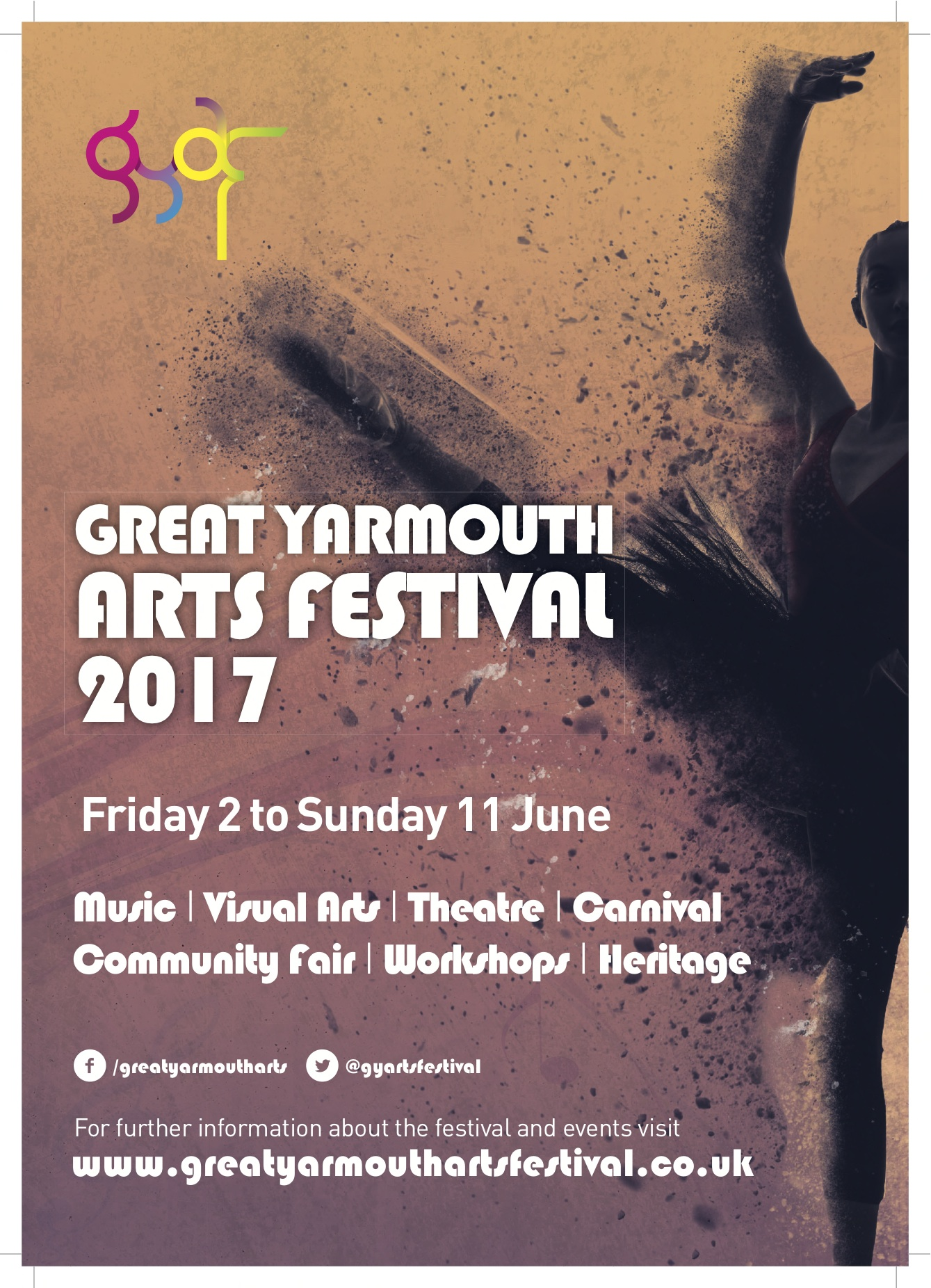 Gt Yarmouth Arts Festival 2017 Poster