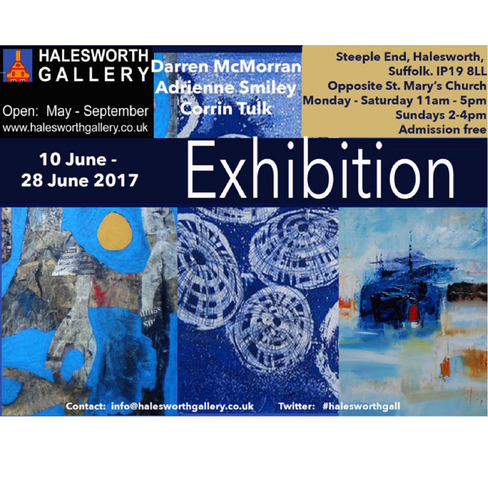 exhibition poster halesworth gallery