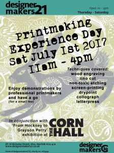 Poster - printmaking day 2017