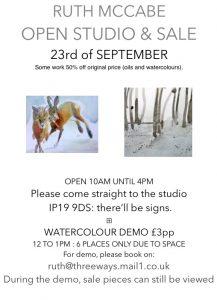 Ruth McCabe September Open Studio