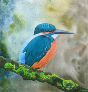 kingfisher painting by Issy Coe