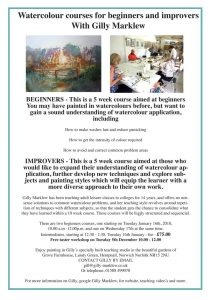 watercolour courses