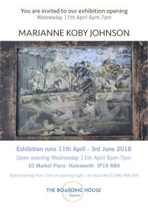 Marianne Koby Johnson Exhibition Opening @ The Boarding House, Halesworth