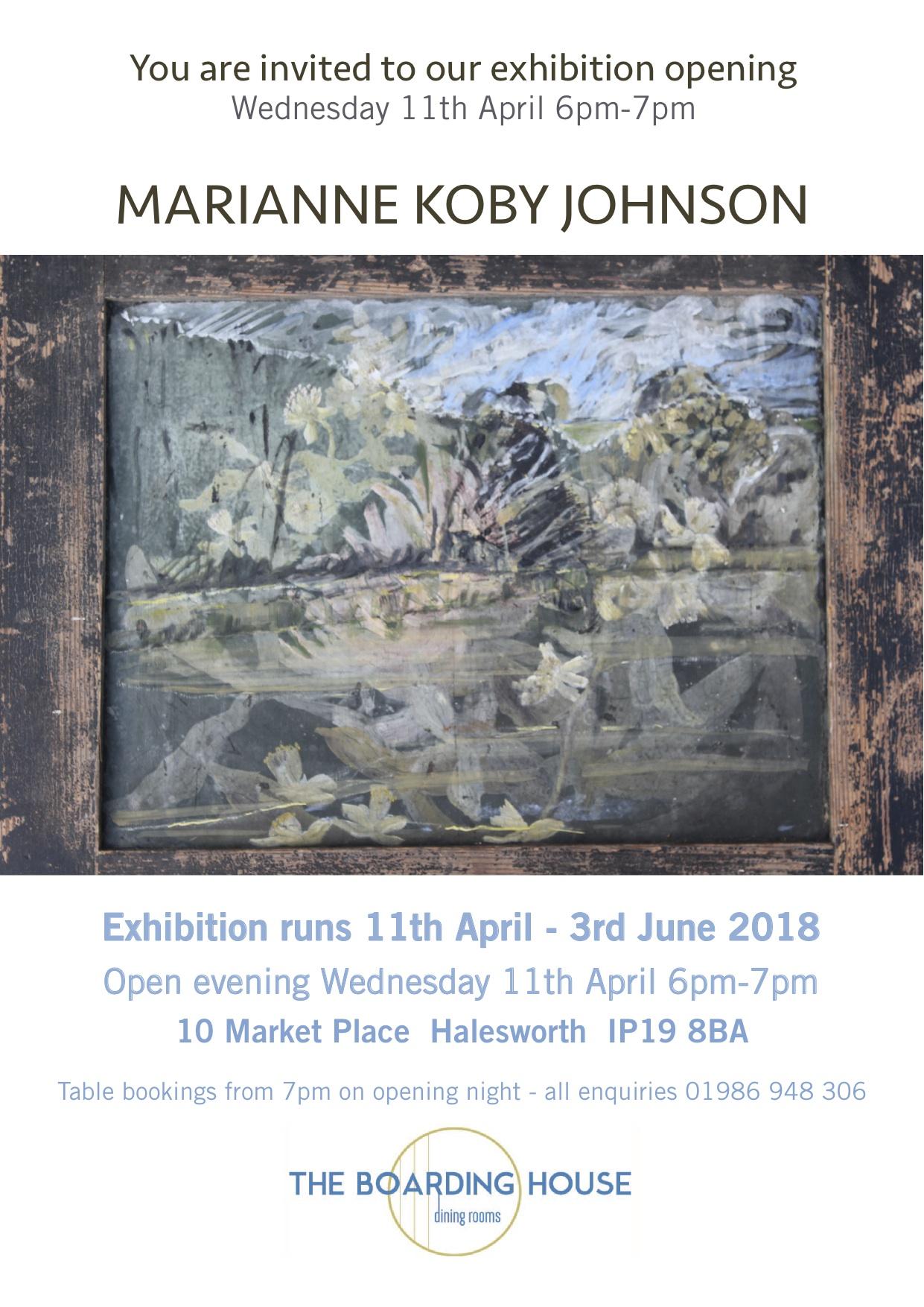 Marianne Koby Johnson Exhibition Invite
