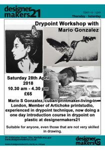 Dry Point Workshop with Mario Gonzales