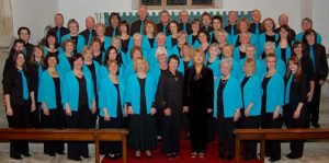 Pakefield singers in blue outfit