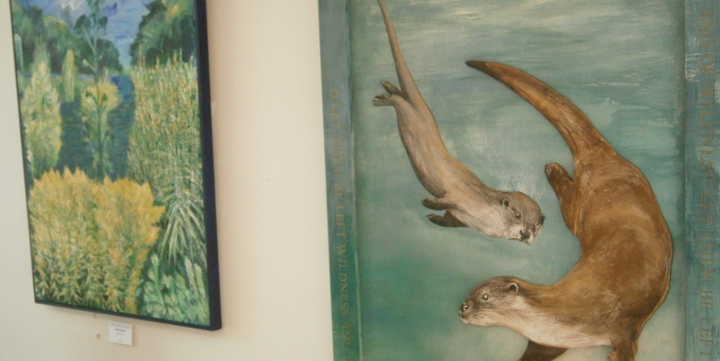 paintings from the river dwellers exhibition