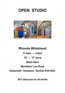 rhonda whitehead open studio poster