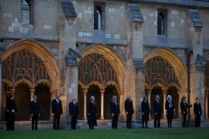 Voice project choir outside cathederal