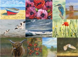 The Colours of Summer Exhibition, The Studio Art Gallery, Acle.