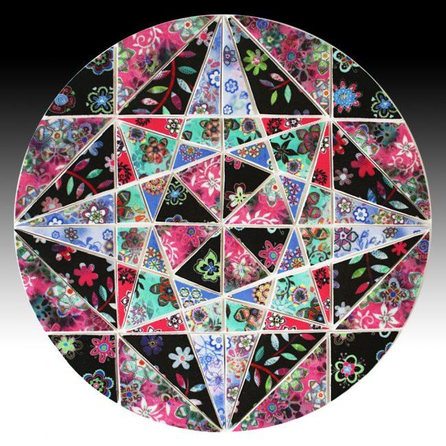Circle mosaic artwork
