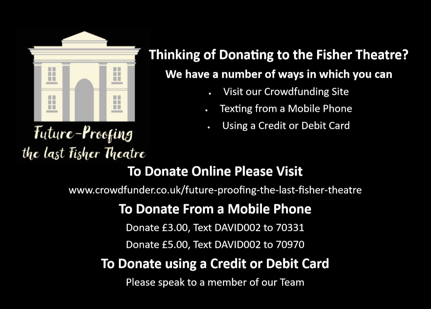 Fisher Theatre funding campaign
